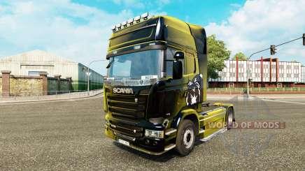 Boston Bruins pele para o Scania truck para Euro Truck Simulator 2