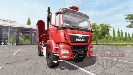 MAN TGS 18.480 wood crusher v1.2 para Farming Simulator 2017