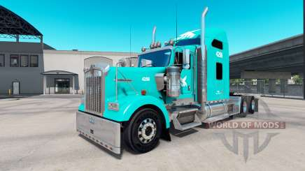 Pele TUM no caminhão Kenworth W900 para American Truck Simulator