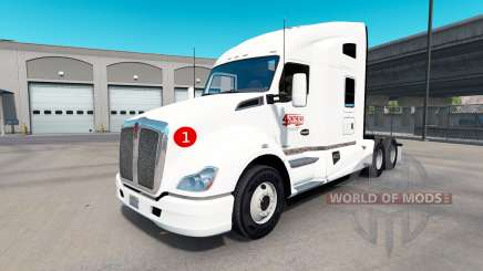 Pele 4OnTheGo no trator Kenworth T680 para American Truck Simulator