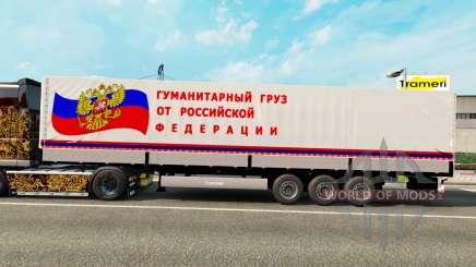 Um semi-reboque de transporte humanitário de carga para Euro Truck Simulator 2