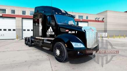 Adidas pele para o caminhão Peterbilt 579 para American Truck Simulator