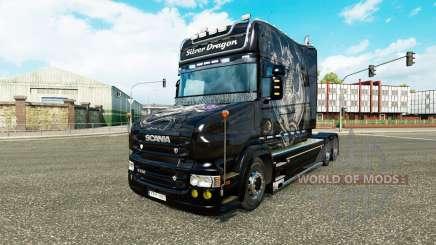 Silver Dragon pele para a Scania T caminhão para Euro Truck Simulator 2