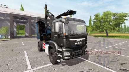 MAN TGS 18.480 wood crusher v1.3 para Farming Simulator 2017