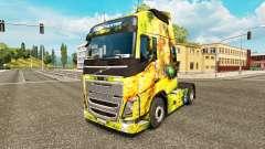 Menina flor da pele para a Volvo caminhões