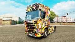 Graffiti pele para o Scania truck