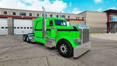 Sonho esmeralda de pele para o caminhão Peterbil