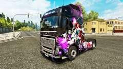 Pele de League of Legends em um caminhão Volvo