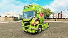 Pele Caco, o Sapo no trator Scania