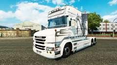 Dragão branco de pele para caminhão Scania T