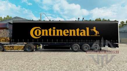 Pele Contiential no trailer para Euro Truck Simulator 2