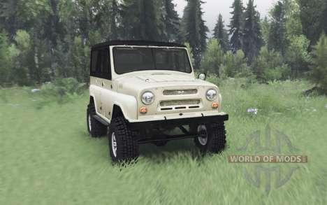 UAZ 469 bege v1.1 para Spin Tires