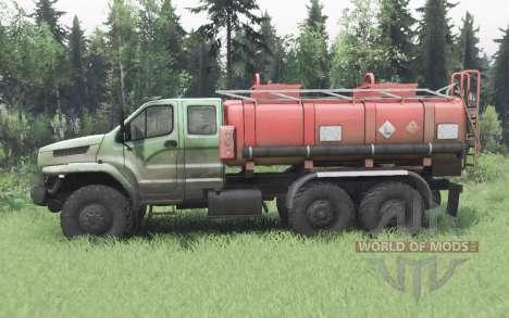 Ural 4320-6988-72Е5И06 Próxima cabine dupla para Spin Tires