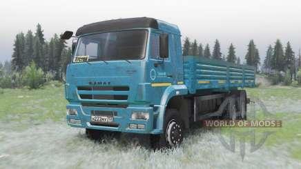 KamAZ 65117 azul escuro para Spin Tires