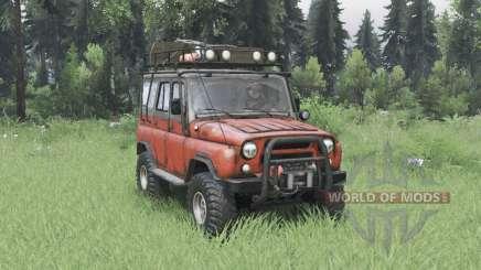 UAZ 31514 moderadamente vermelho para Spin Tires