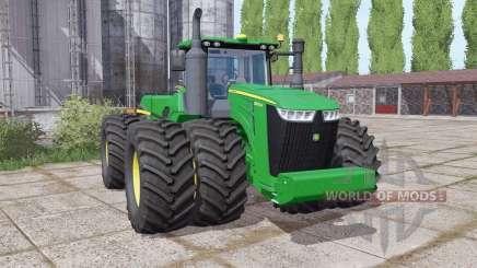 John Deere 9520R twin wheels para Farming Simulator 2017