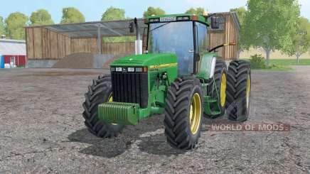 John Deere 8400 double wheels para Farming Simulator 2015