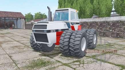 Case 2870 Traction King twin wheels para Farming Simulator 2017