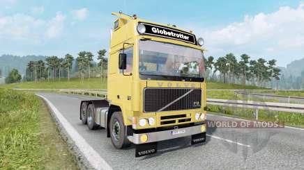 Volvo F12 soft yellow para Euro Truck Simulator 2