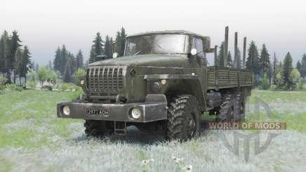 Ural 4320-41 cinza escuro-verde para Spin Tires
