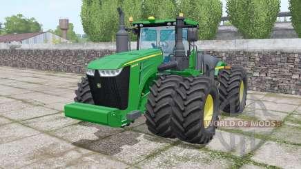 John Deere 9620R twin wheels para Farming Simulator 2017