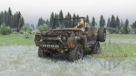 Rusty UAZ 469 v1.3 para Spin Tires