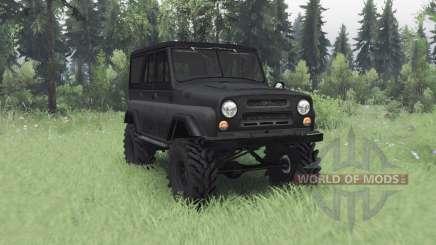 UAZ 469 cinza escuro para Spin Tires
