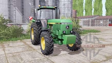 John Deere 4850 twin wheels para Farming Simulator 2017