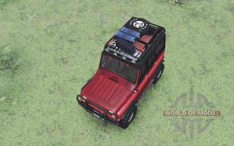 UAZ 469 vermelho v1.1 para Spin Tires