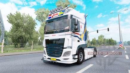 DAF XF Super Space Cab Jelle Schouwstra v1.1 para Euro Truck Simulator 2