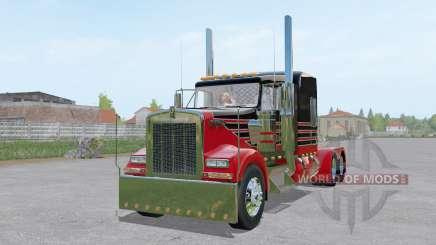 Kenworth W900L 6x6 para Farming Simulator 2017