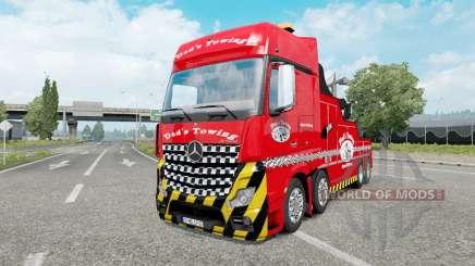 Mercedes-Benz Actros (MP4) Tow Truck para Euro Truck Simulator 2