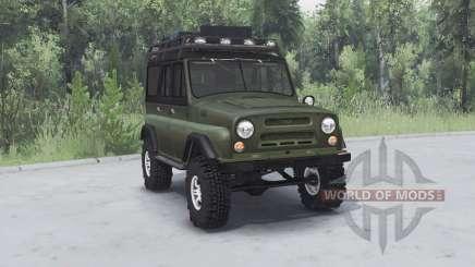 UAZ 469 cáqui v1.1 para Spin Tires