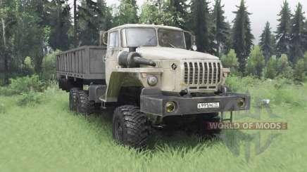 Ural 4320-1912-40 cinza-amarelo v1.2 para Spin Tires
