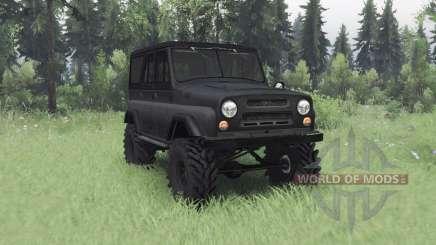 UAZ 469 cinza escuro v1.1 para Spin Tires