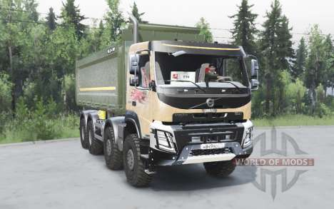 Volvo FMX 8x8 2014 para Spin Tires