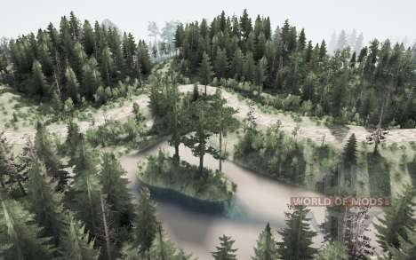 Arborizada natureza para Spintires MudRunner