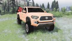 Toyota Tacoma TRD Off-Road Access Cab 2016 para Spin Tires