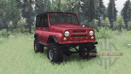 UAZ 469 vermelho v1.2 para Spin Tires