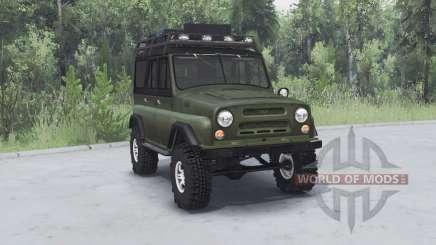 UAZ 469 cáqui v1.2 para Spin Tires