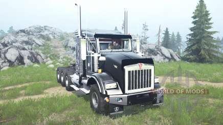 Kenworth T800 four-axle 2005 v1.1 para MudRunner