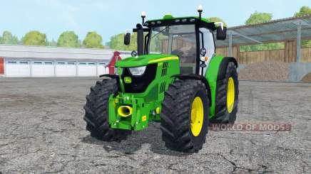 A John Deere 6170R frente loadeᶉ para Farming Simulator 2015